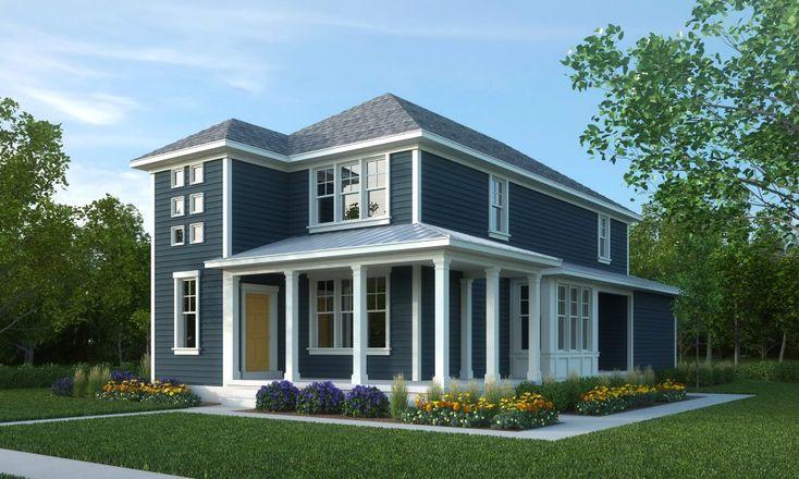Best Blue Exterior Grey Roof White Trim House Exterior 400 x 300