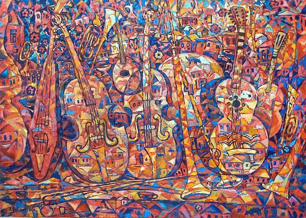 Composition with musical instruments