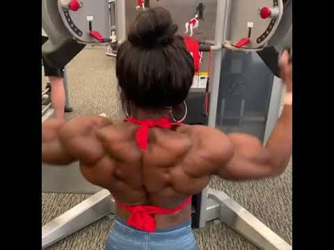 female bodybuilder biceps veins girl muscles abs strong