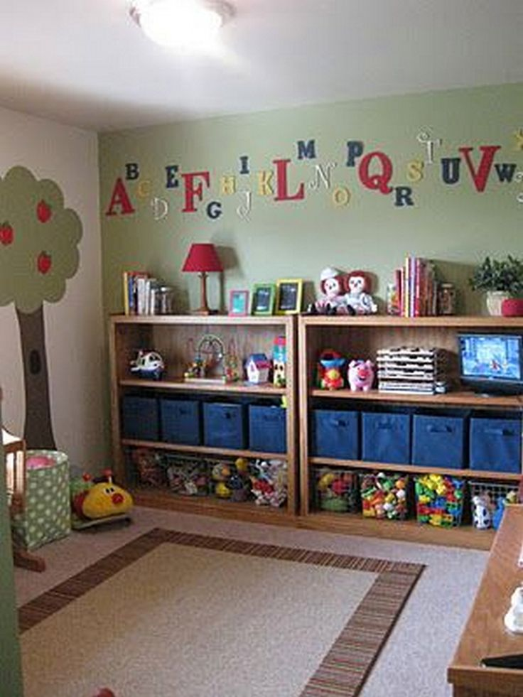 25 best ideas about toy organization on pinterest for Living room ideas kids