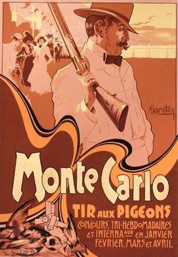 Hohenstein, Adolfo poster: Monte Carlo (from Ricordi portfolio)
