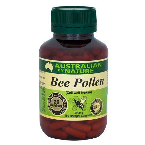 Bee Pollen 500 mg – Australian by Nature – 180 Capsules | Shop Australia