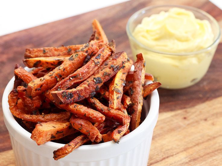 Gojee - Oven Baked Carrot and Sweet Potato Fries by Wishful Chef