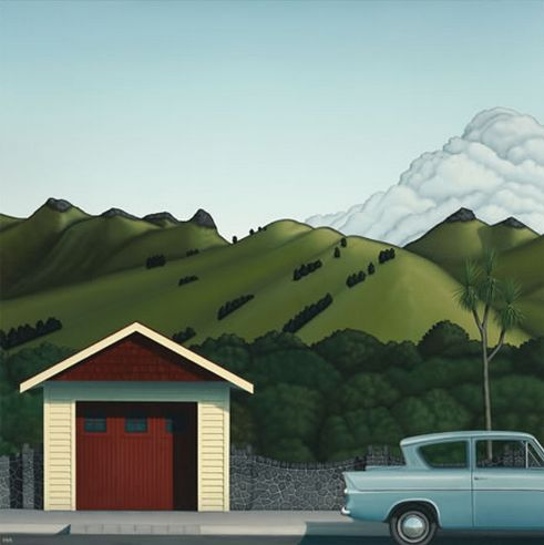 Crater Rim and Car by Hamish Allan - imagevault.co.nz