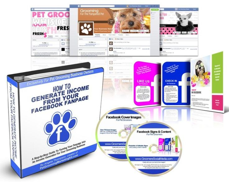 Dog Grooming Facebook Cover Templates Bundle(20) Pet