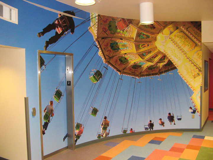 Environmental Graphics. See More. Wall Mural And Elevator Wrap For A  Hospital.
