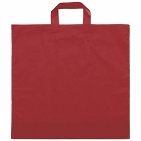 "Red Frosted Economy Shoppers, 16 x 15"" + 6"" BG  250/ $57.50"
