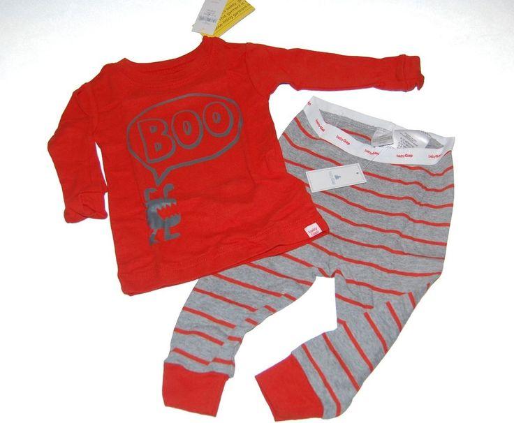 Baby Gap Boys Girls BOO Halloween Long Pajamas PJs NEW NWT #babyGap #TwoPiece #halloween