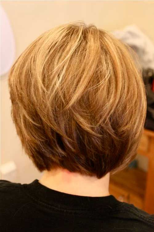Layered Short Bob Cut Back View for Women