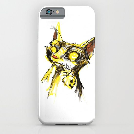 Cellphone case, drawing  graphite  ink/pen  acrylic   comic  illustration  figurative  cat   fish-bone  trash  alley  pussy-cat   kitty  street