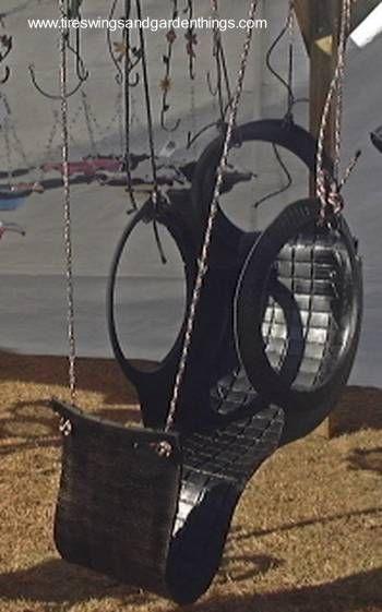 Neumático reciclado como columpio