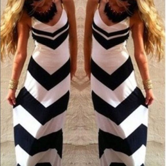 Black and white chevron dress boutique