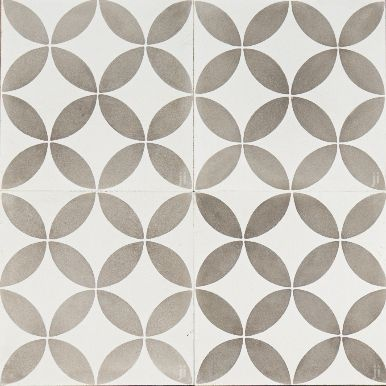 Grey and White Circle Reproduction Tile