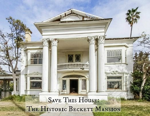 Beckett Mansion for sale  - Someone needs to buy and restore this old mansion. It always made my heart ache when I would pass gorgeous homes like this in south los angeles.