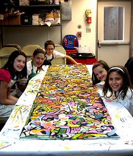 group abstract painting