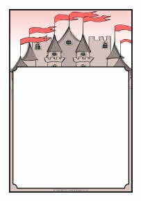Castles-themed A4 page borders (SB4214) - SparkleBox