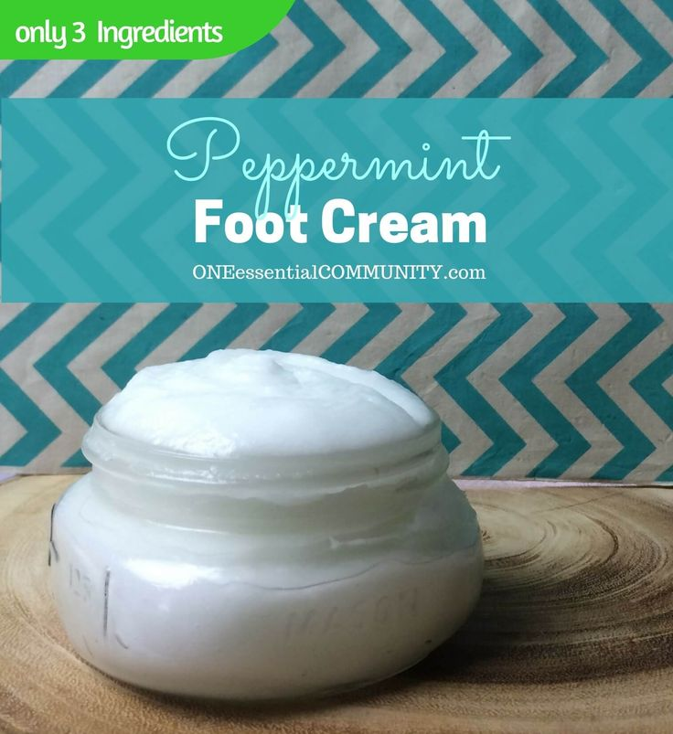 DIY Peppermint Foot Cream {made with essential oils, aloe, and coconut oil} cools, soothes, and refreshes tired feet.