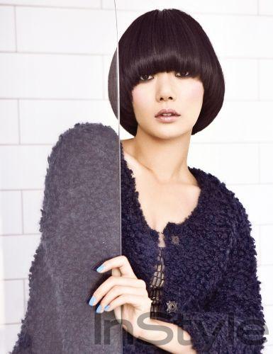 Bae Doo Na InStyle Korea Magazine October 2009