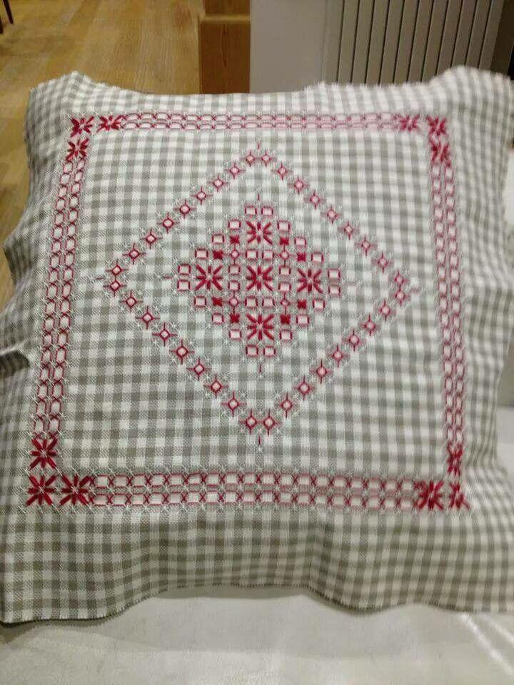 beautiful work -- pillow top (?) chicken scratch