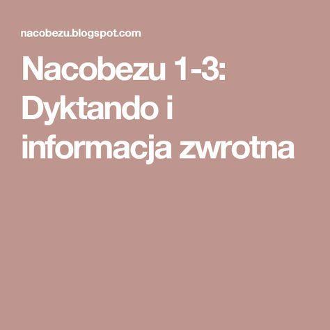 Nacobezu 1-3: Dyktando i informacja zwrotna