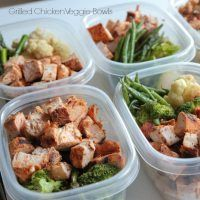 Grilled Chicken & Veggie Bowls - great healthy make-ahead meal!