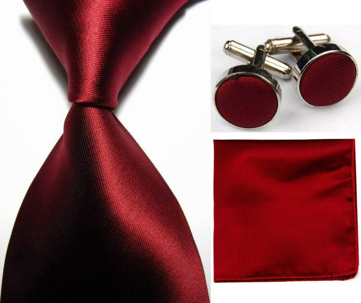 Snt0412 nouveau solide plaine rouge foncé Ties + Hanky mouchoir boutons de manchette cravates hommes Business Casual de soirée de mariage cravate Set dans Ties & Handkerchiefs de Accessoires et vêtements pour hommes sur AliExpress.com | Alibaba Group