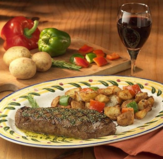 Olive Garden    Steak Toscano: 840 Cal, Fat, Carbs, And Protein.
