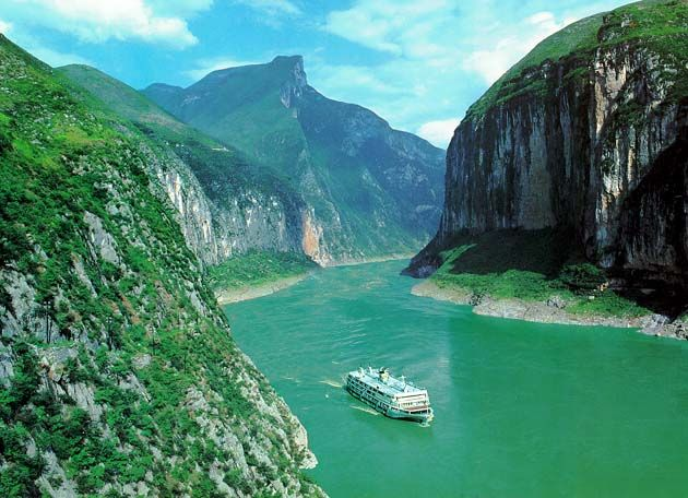 """A Yangtze River Cruise in China brings you into the mystical heart of a vibrant culture. Experience the modern architecture of Shanghai, Beijing's Great Wall & Forbidden City, archaeological gem- the Terra Cotta Warrior Army in Xi'an, or the incredible hanging coffins as you cruise through the breathtaking and verdant Three Gorges region.  You will be thrilled with the seamless progression from historic to cosmopolitan.   Is a Yangtze River Cruise on YOUR """"bucket list""""? #asia"""