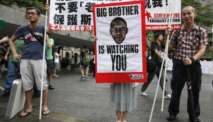 FOTOS: manifestantes en Hong Kong protestaron a favor de Edward Snowden y contra Obama