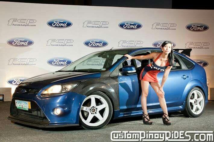 Blue Ford Focus St Rs Mk2 White Rims Ford Focus St