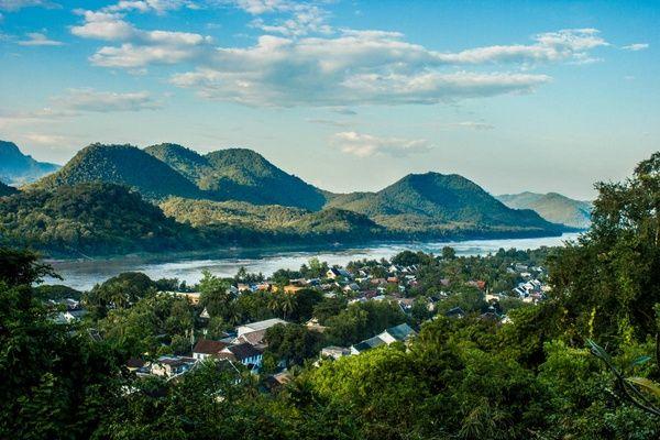Aerial view of Luang Prabang, Laos