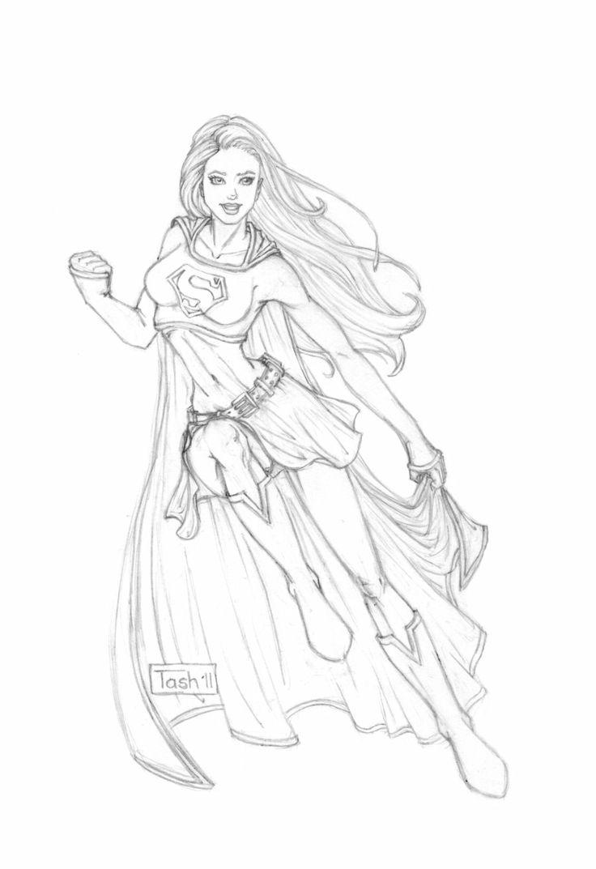 hot superhero girls drawings