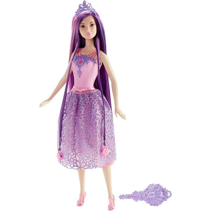 Conheça a sensacional Barbie Princesa - Cabelos Longos Roxo da Mattel, uma boneca belíssima que vai conquistar  as meninas.     Com o visual de uma verdadeira princesa, a boneca vai encantar a todos, mostrando seu lindo vestido, longos cabelos para pentear com a escova e coroa.     Com ela as meninas poderão soltar a imaginação e usar toda a criatividade para criar as mais animadas historinhas. Barbie Princesa é uma boneca impecável que vai proporcionar muitos momentos de alegria e diversão.