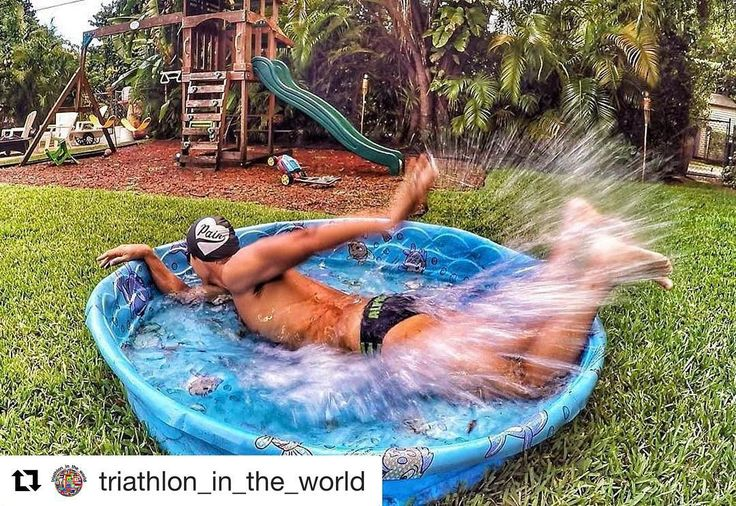 Every swimmer when they see a pool  #Repost @triathlon_in_the_world  Follow #triathlon_in_the_world  Triathlete @trilife365  ---------------------------------------------------- When you miss morning swim class but still have to get your training done; we triathletes innovate . For those that say flip turns are hard I feel you...I feel you ! ---------------------------------------------------- #ComCriança #PraTudoTemUmJeito #TreinoDeTerça #VamosQueVamos #SejaAlwaysMore #TeamAlwaysMore…