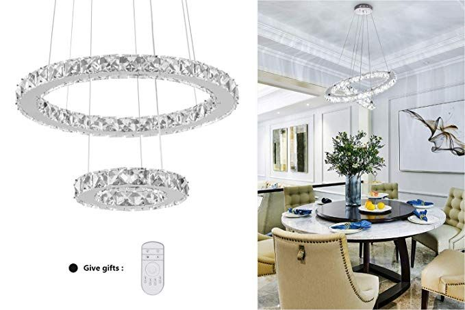 Kai Crystal Island Pendant Light Dimmable Temperature Adjustable