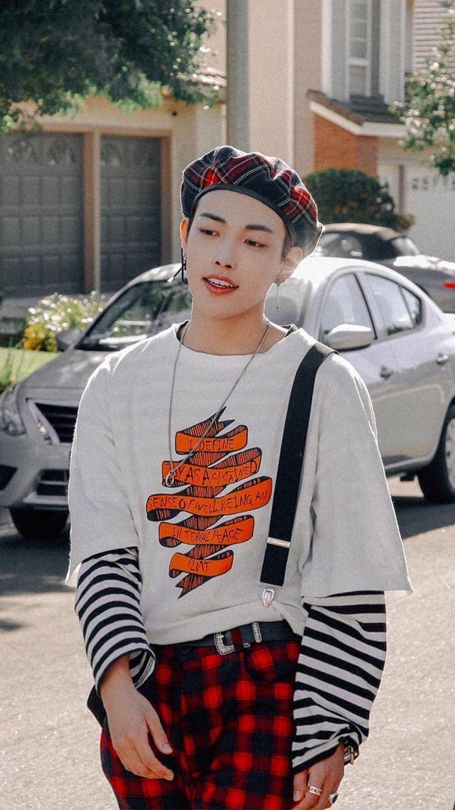 Pin By Tha Na Of Tha Fla On Hongjoong Ateez Kpop Outfits Kim Hongjoong Kpop Fashion