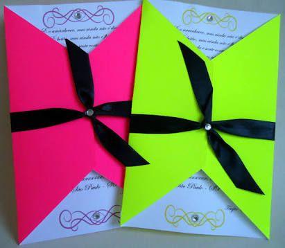 Resultado de imagem para convites coloridos neon