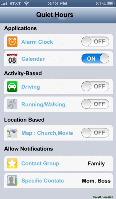Apple's Quiet Hours for Notification Feature