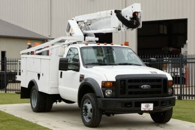 used bucket truck for sale terex tl38p 2008 ford f550 utility fleet sales stock 12294. Black Bedroom Furniture Sets. Home Design Ideas