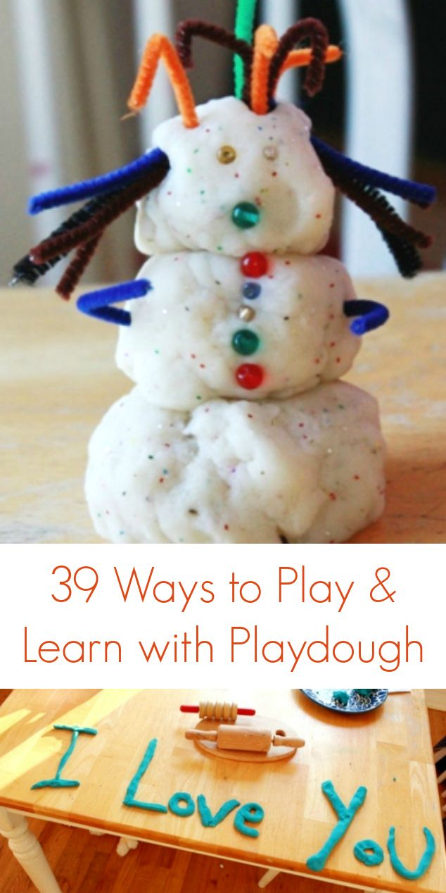 Playdough Ideas for Kids (and babies and toddlers). These are great ideas.  This mom is so creative and truly knows how to bring out the artist in kids.