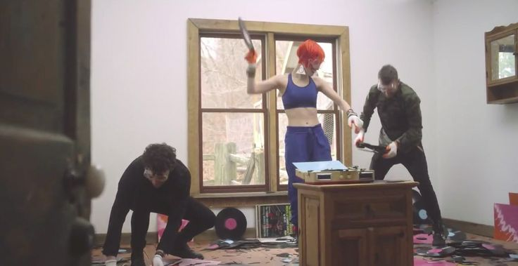 Under Armour bra worn by Hayley Williams in AIN'T IT FUN by Paramore (2014) @underarmour