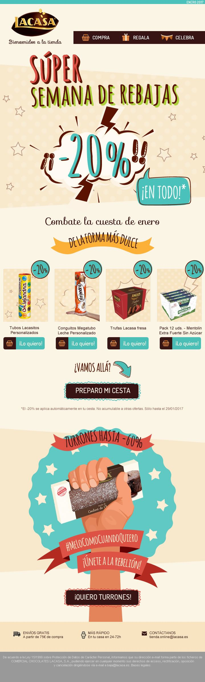 CHOCOLATES LACASA · ONLINE STORE · Once again, the e-commerce store we created for a leading brand has beaten records: more than doubling sales from last year.· How can we help you? · January 2017