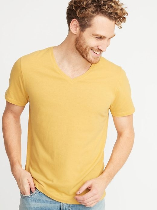 b24bb423a Soft-Washed V-Neck Tee for Men in 2019 | Session Styles | V neck tee ...