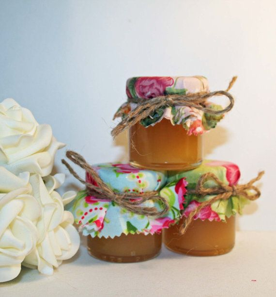 Mini Jam Jar Wedding Favours Filled With Pure Honey Homemade Sweets Or DIY