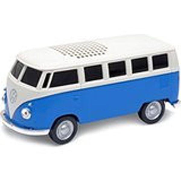 VW Blue Tooth Speaker, Blue, Bus 1963