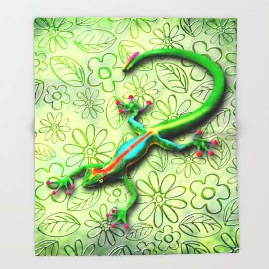 SOLD! #Gecko #LIzard #Rainbow #Colors #Throw #Blanket - #3d #Digital #Art #BluedarkArt_Copyright     https://society6.com/product/gecko-lizard-rainbow-colors_throw-blanket#s6-2048702p49a64v437     UP TO $34 OFF + #FREE #SHIPPING ON #BEDDING & #BATH #ITEMS LIKE #DUVETS, #BATHMATS AND MORE - #SALE ENDS TONIGHT AT MIDNIGHT PT!     @society6
