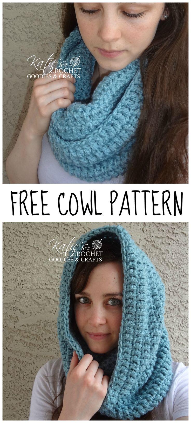 Free Easy Crochet Cowl Pattern by Katie's Crochet Goodies