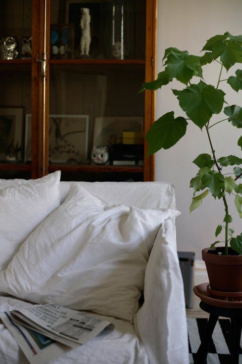 La maison d'Anna G.: Deco Atelier, Home, Apartment Gardens, Behind Couch, Couch Covers, House Anna, Inspiration Home Livingroom, Home Gardens, Contrary Gardens