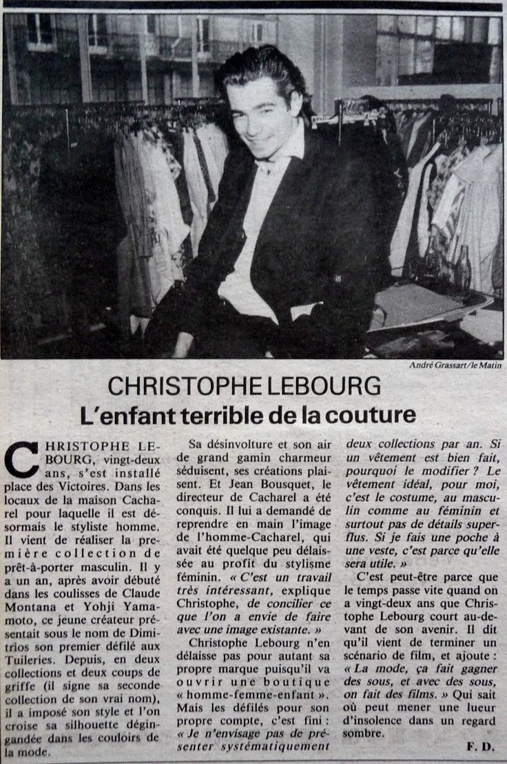 CACHAREL  & CHRISTOPHE LEBOURG