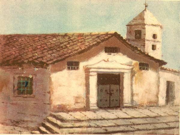 Antigua Catedral de Bogotá,derrumbada en 1805 después del terremoto de 1785. En su sitio hoy está la Catedral Primada